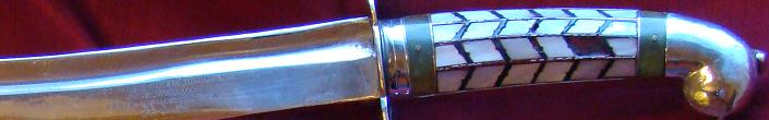 mother of pearl handled sword